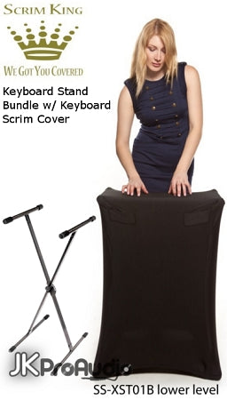 Scrim King XST01B Package w/ Hosa Keyboard Stand