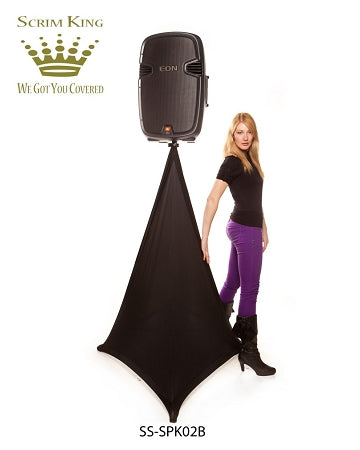 Scrim King SS-SPK02-B Speaker Stand Single Scrim