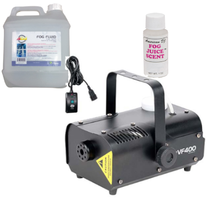 ADJ VF400 Fog Machine Bundle w/ remote and fog fluids