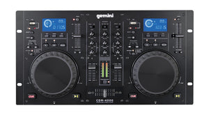 Gemini CDM-4000 2 Channel Dual MP3/CD/USD Mixer Console