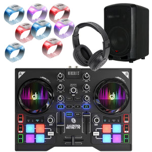 Hercules DJControl Instinct P8 Party Pack w/ Headphones and Speaker