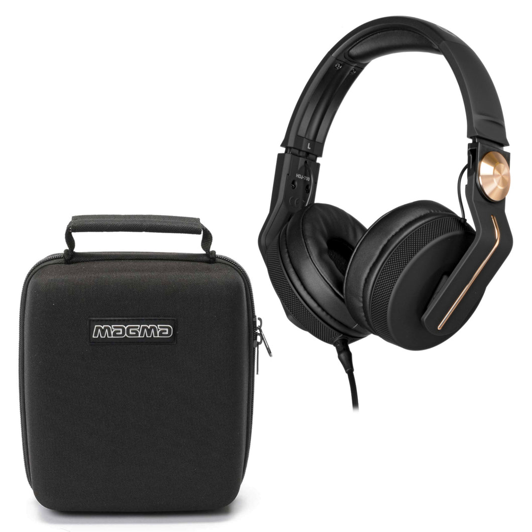 Pioneer HDJ-700 Gold w/ Magma Headphone Case