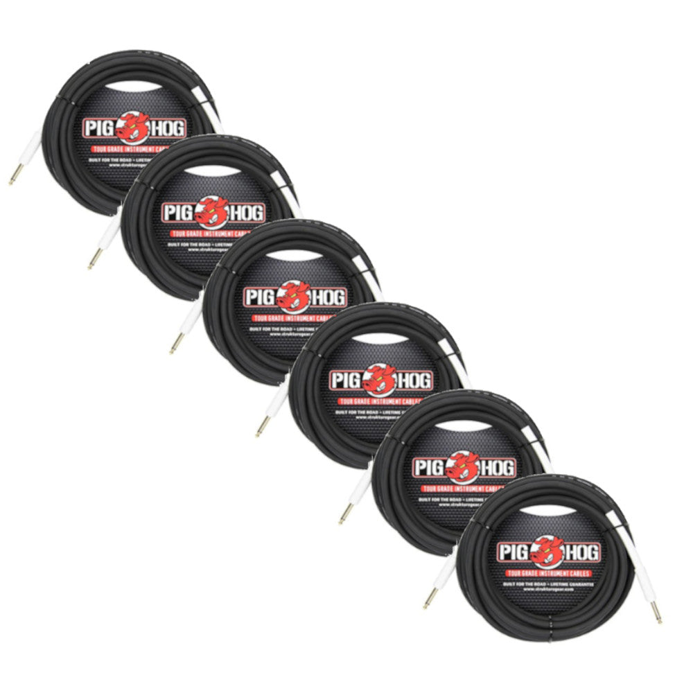 6 Pack of Pig Hog PH3 1/4