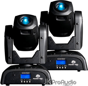 2 Pack ADJ Pocket Pro Mini Moving Head LED Effect Lights