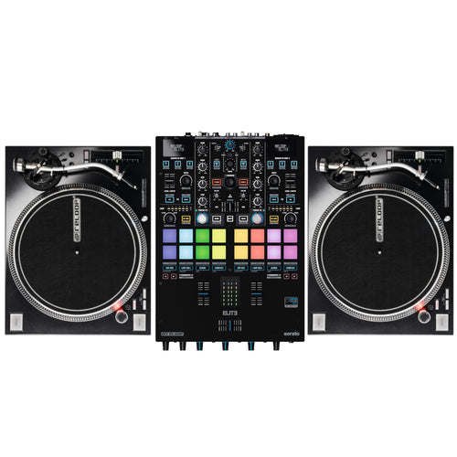 Reloop ELITE Two Channel Serato DJ Pro Mixer Bundle W/ RP-7000mk2 Turntables