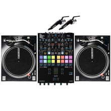 Reloop ELITE Two Channel Serato DJ Pro Mixer Bundle W/ RP-7000mk2 and Needles
