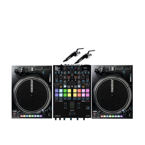 Reloop ELITE Two Channel Serato DJ Pro Mixer Bundle W/ Rp-8000mk2 and Needles