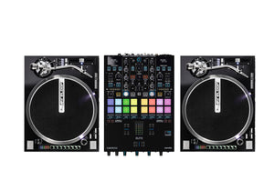 Reloop ELITE Two Channel Serato DJ Pro Mixer Bundle W/ Rp-8000 Turntables