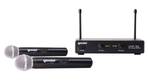 "Gemini UHF-02M Wireless Microphone System ""B"" Stock"