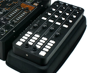 Xone:K2 on case next to mixer