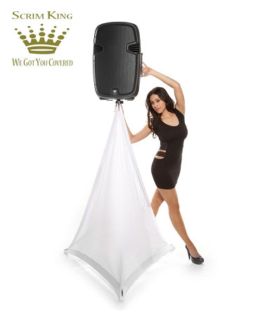 Scrim King SS-SPK02-W Speaker Stand Single Scrim