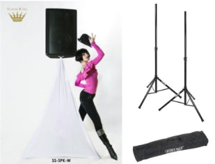 Scrim King SS-SPK-W Speaker Stand Scrim Package