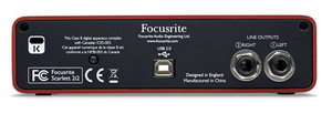 Focusrite Scarlett 2i2 rear