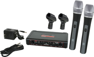 Galaxy Audio EDXR/HH38D Dual Handheld UHF Wireless Microphone System