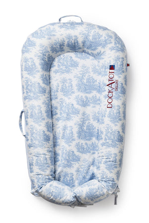 Spare Cover for DockATot Deluxe - Toile de Jouy Dusty Blue