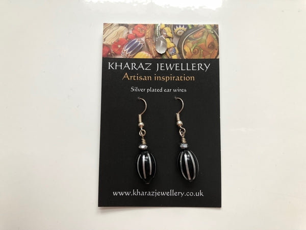 Black Droplet Earrings