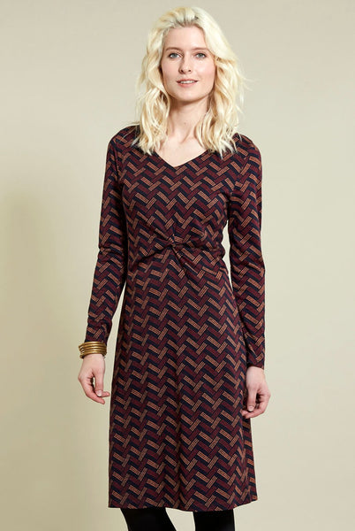 Twist Detail Fitted Dress