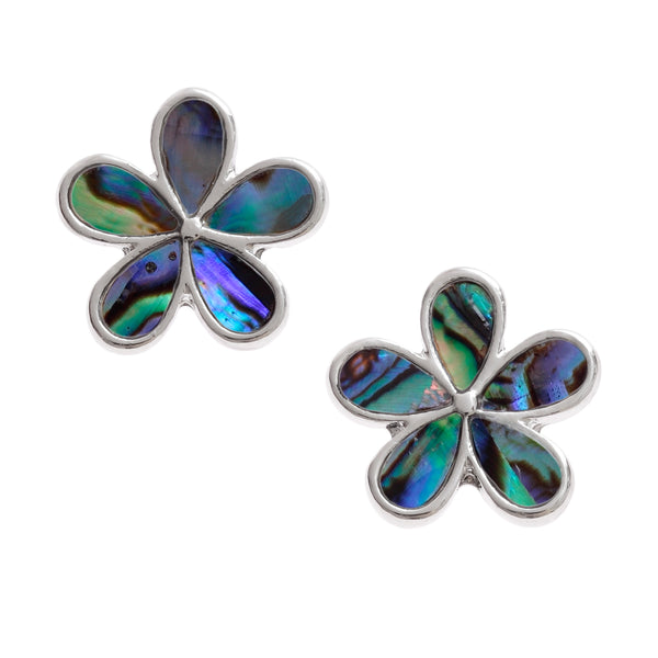 Paua Shell Flower Earrings