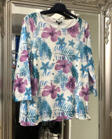 Floral Print Top Now £20
