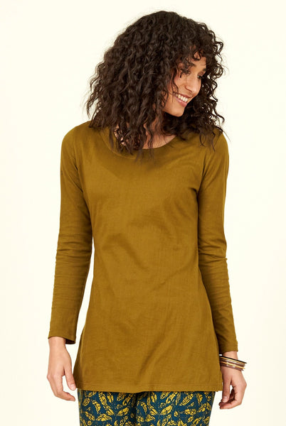 Boat Neck Organic Cotton Top save £10.50