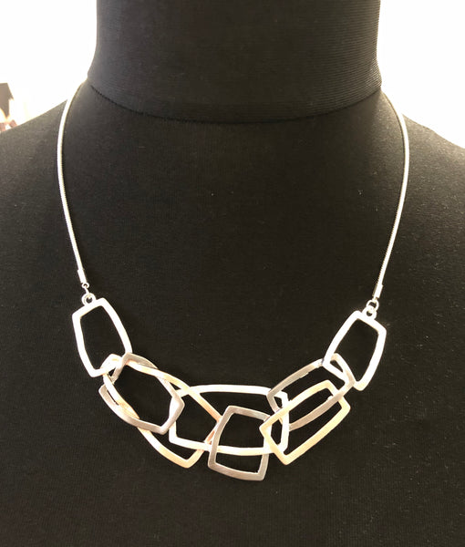 Tri-Colour Crazy Paving Necklace