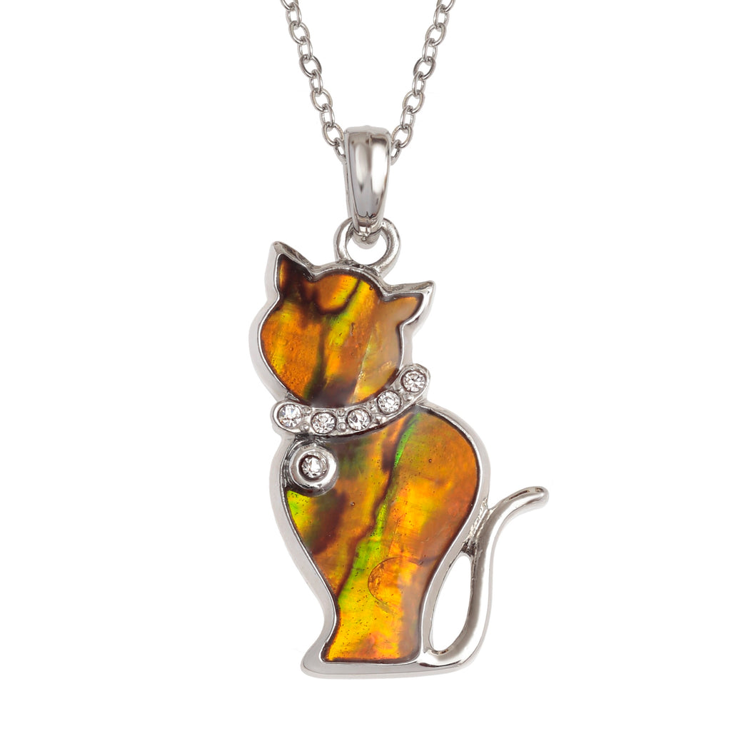 Paua Shell Cat Necklace