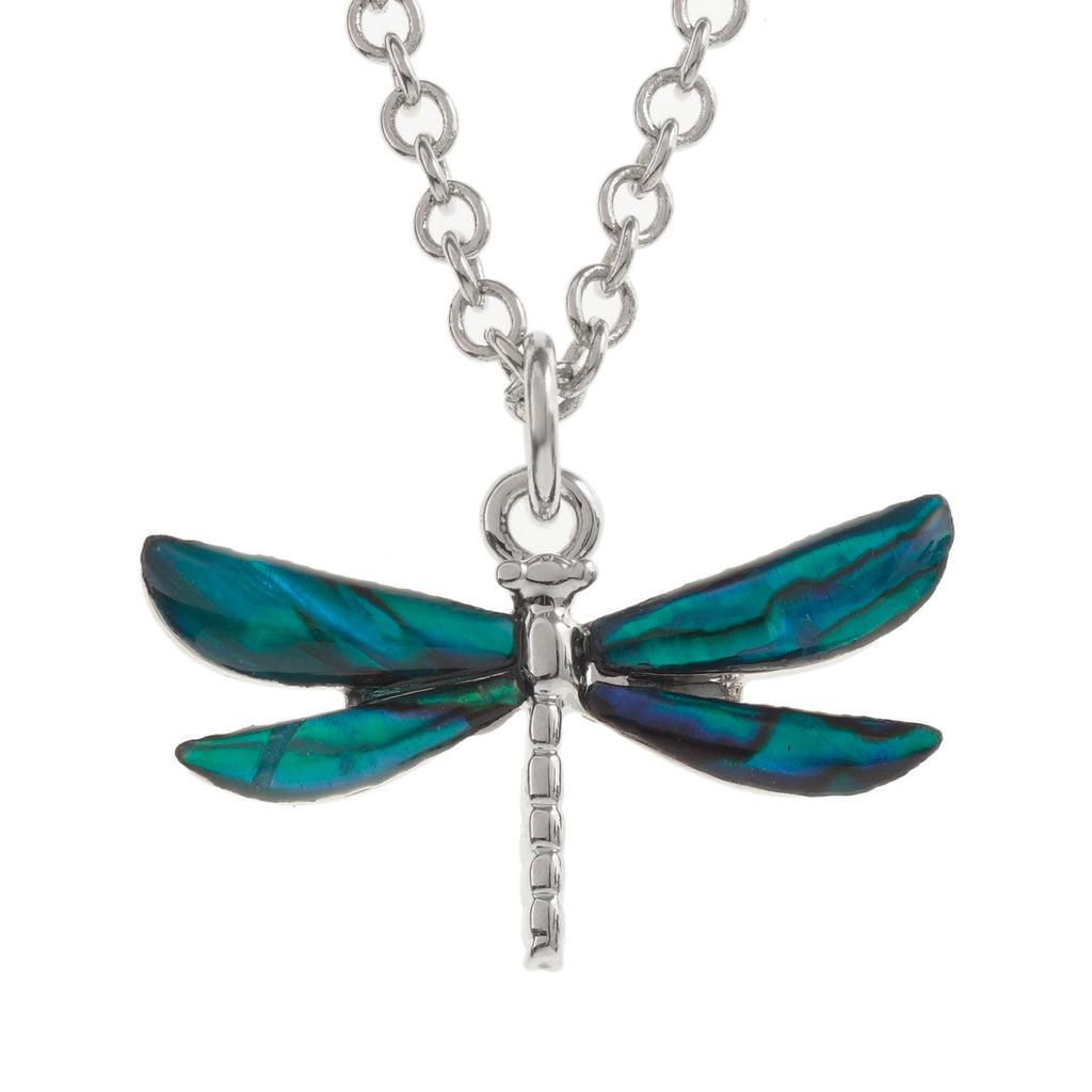 Paua Shell Dragonfly Necklace