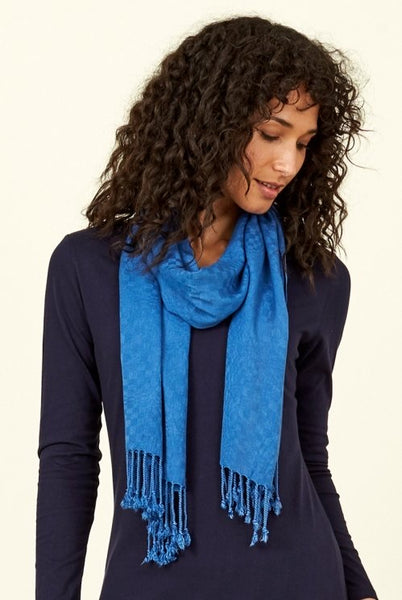Plain Tasseled Scarf