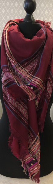 Large Square Red Scarf