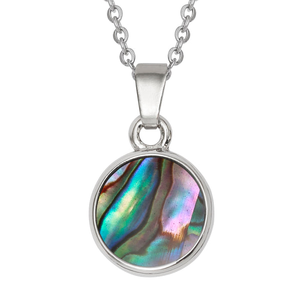 Paua Shell Circular Necklace