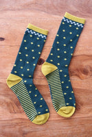 Organic Cotton Diamond Socks Unisex