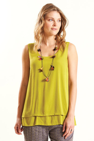 Double Layered Sleeveless Top Now £20