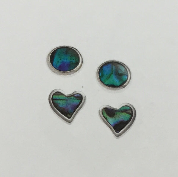 Paua Shell Earrings Set