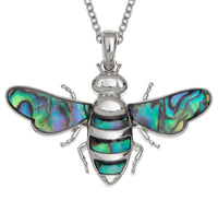 Paua Shell Bee Necklace