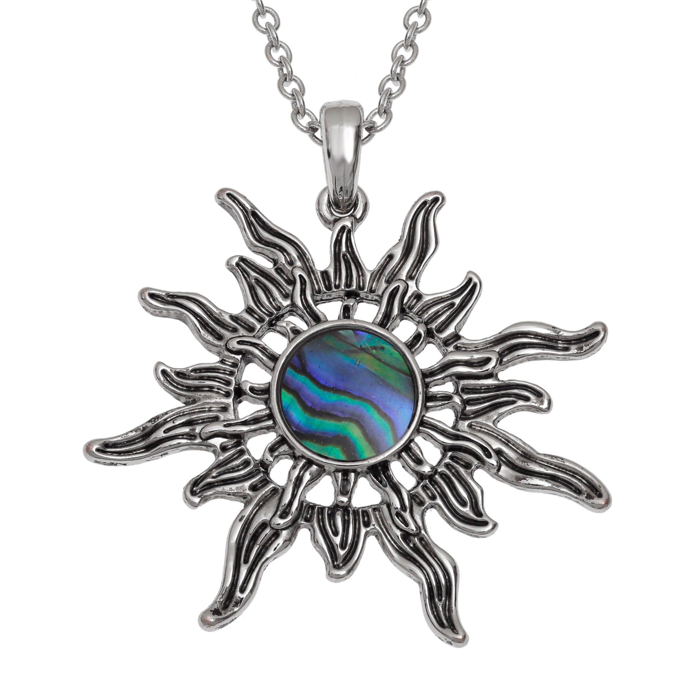 Paua Shell Sunburst Necklace