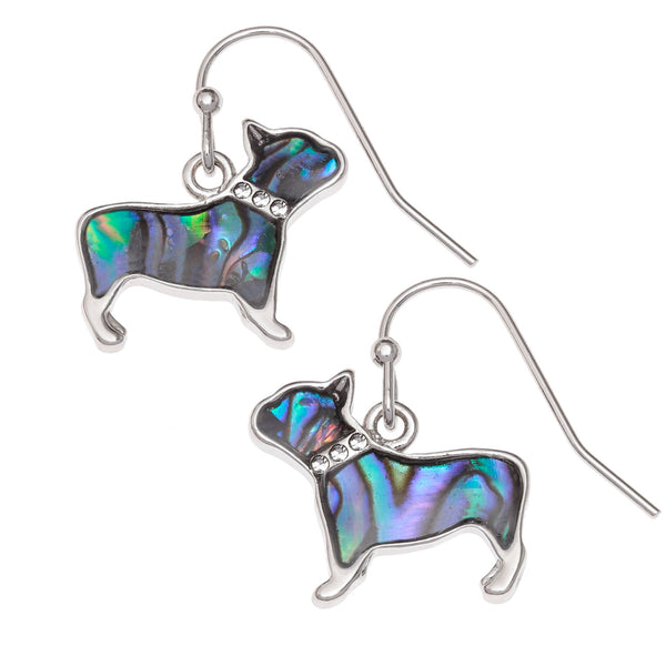 Paua Shell French Dog Hook Earrings