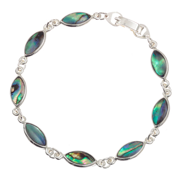 Paua Shell Oval Section Bracelet