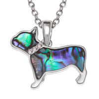 Paua Shell French Dog Necklace
