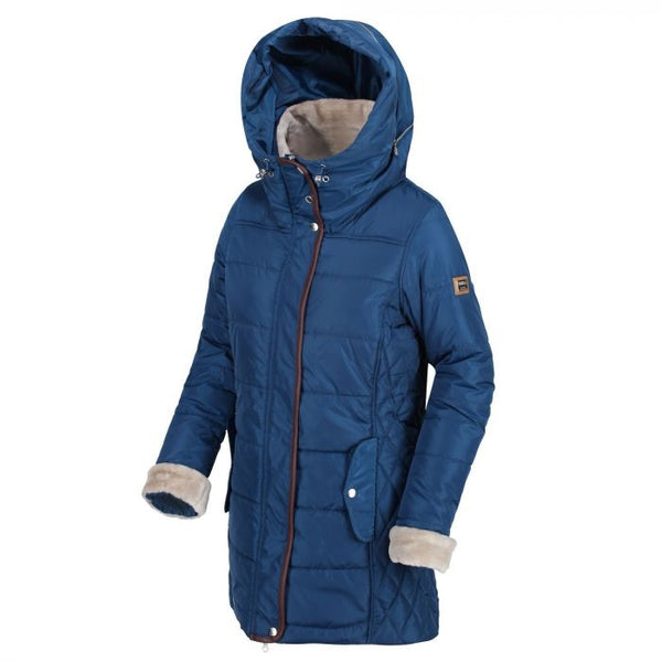 Women's Patchouli Quilted Long Length Hooded Jacket save £30