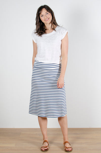 Beach Midi Skirt Cornish Stripe