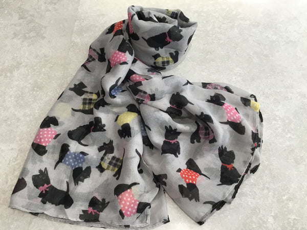 Scottie Dog Print Scarf