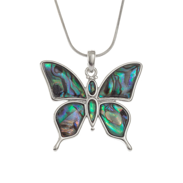 Paua Shell Butterfly Necklace