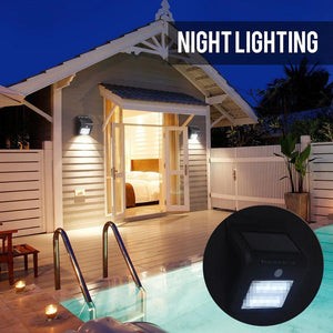 16 LED Waterproof Solar Lamp with Human Motion and Light Sensors