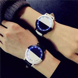 Waterproof LED Yin-Yang Men And Women Lovers Watch