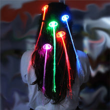 LED Multicolor Fiber Optic Hair Extensions (12-PCS Set)