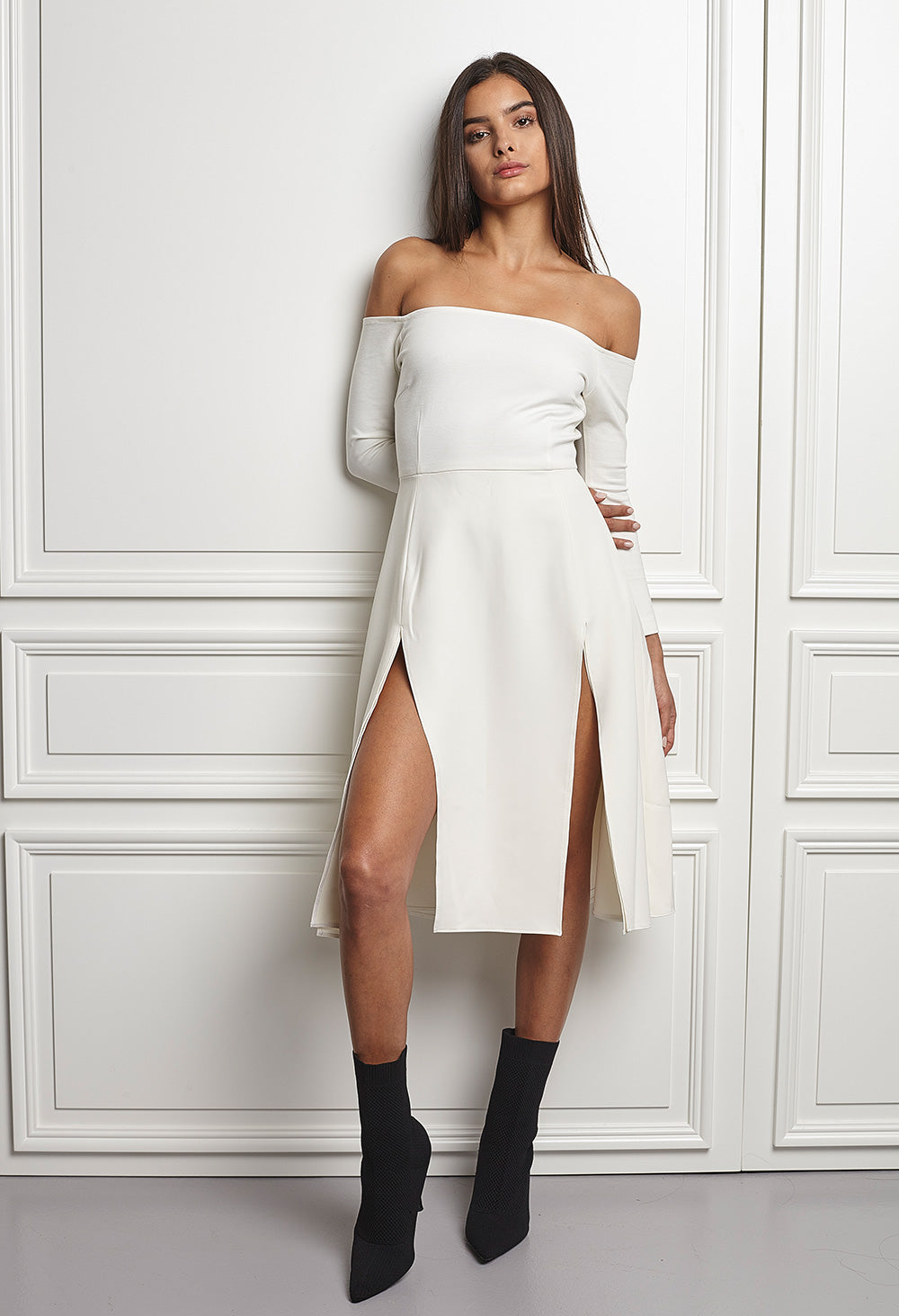White off shoulder dress