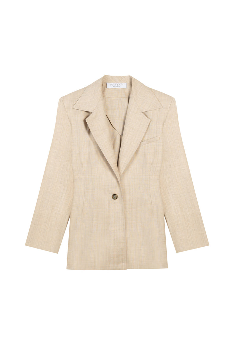 OVERSIZED LIGHT BEIGE SUIT JACKET