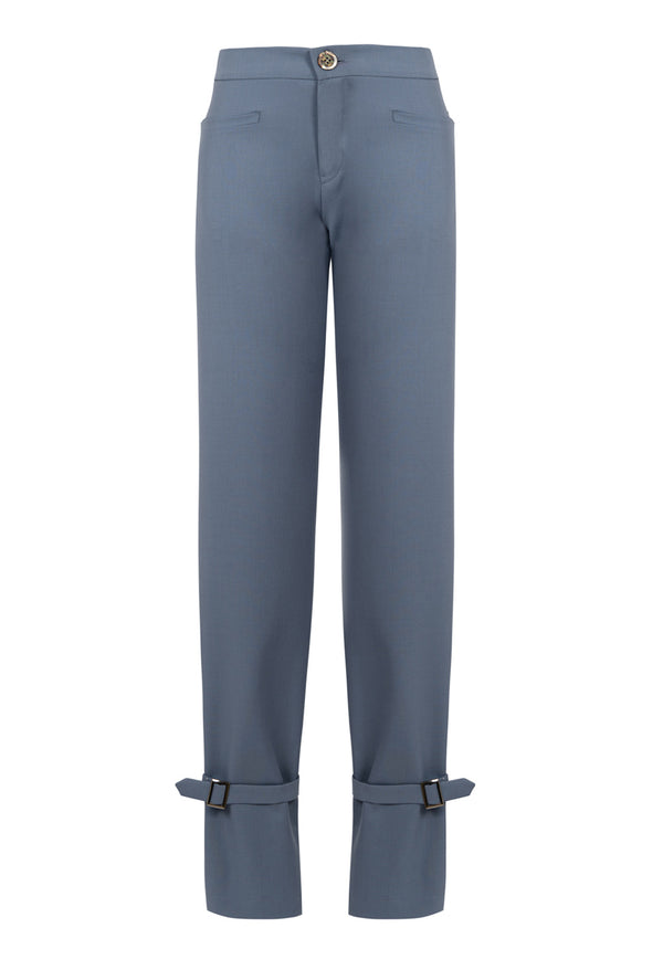 Low waist Pants with ankle buckles