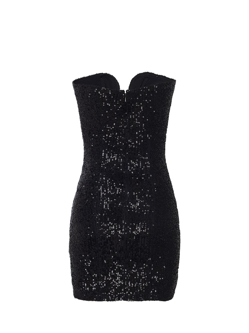 SEQUIN BUSTIER DRESS