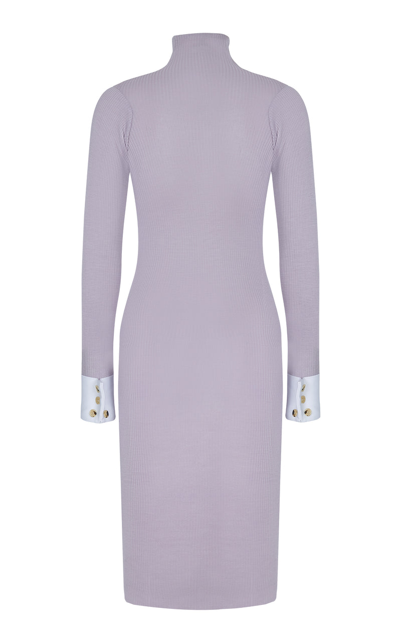 HIGH-NECK STRETCH DRESS